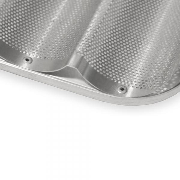 Bandeja aluminio ranurada