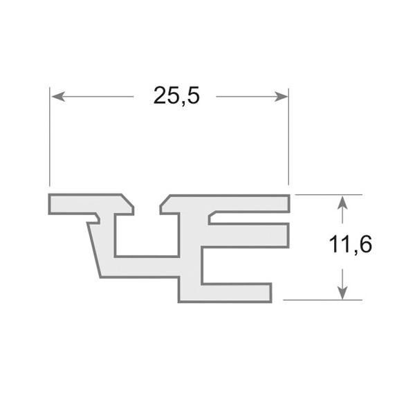 115 - Perfil PVC rígido