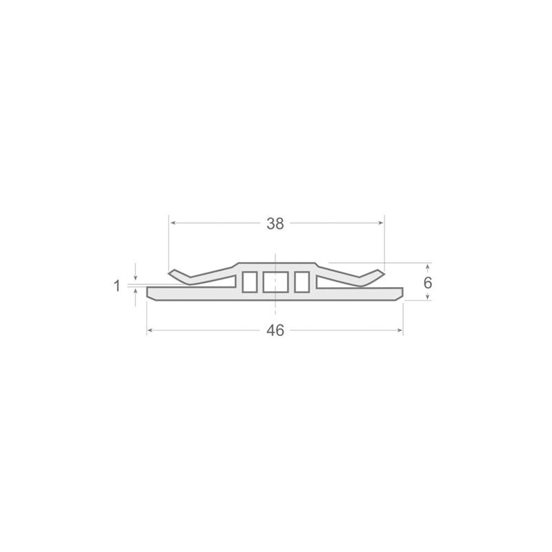 N.121 - Perfil PVC rígido de color negro