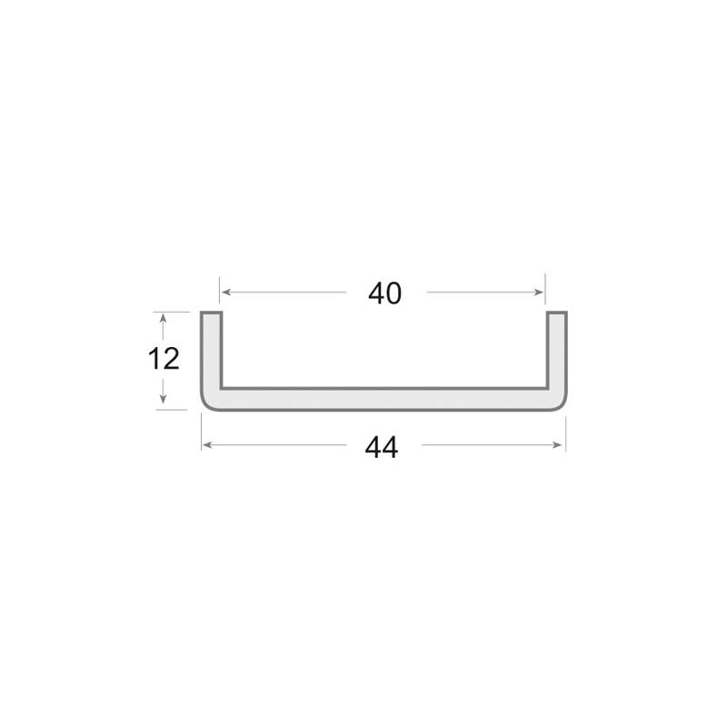 N.0118 - Perfil PVC rígido de color negro