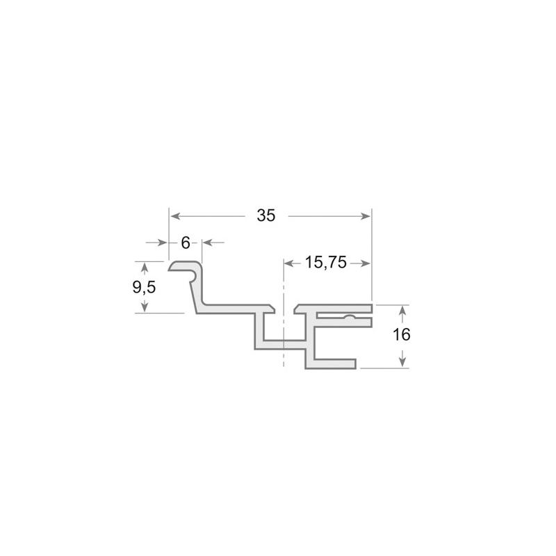 136 - Perfil PVC rígido