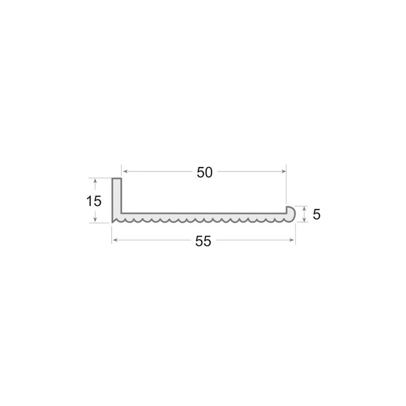 N.30 - Perfil PVC rígido de color negro