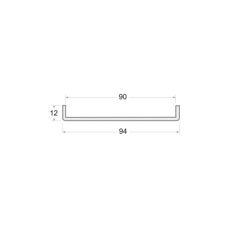 N.31 - Perfil de PVC rígido en color negro