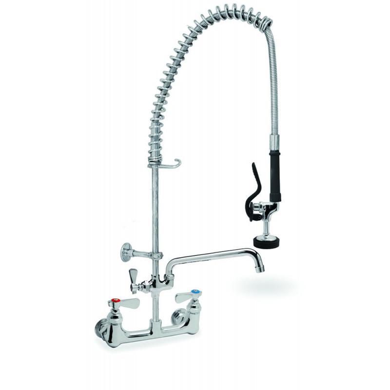 TSP-9N - Grifo de ducha con grifo palomilla 2 aguas en latón cromo