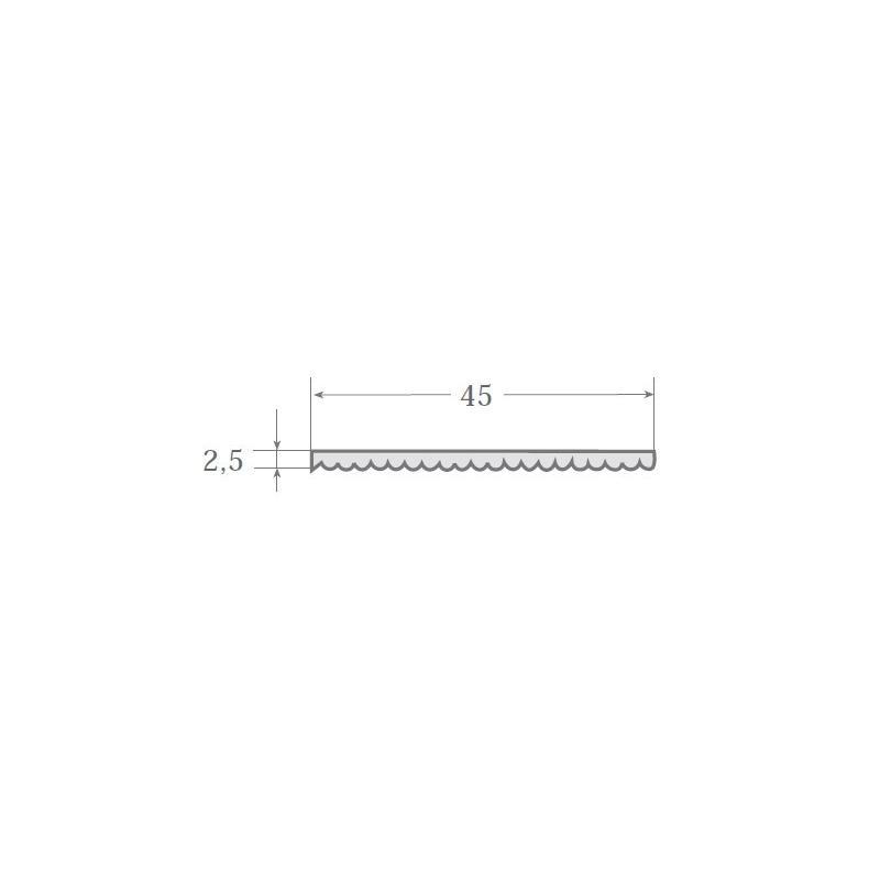 N.8 - Perfil PVC rígido de color negro