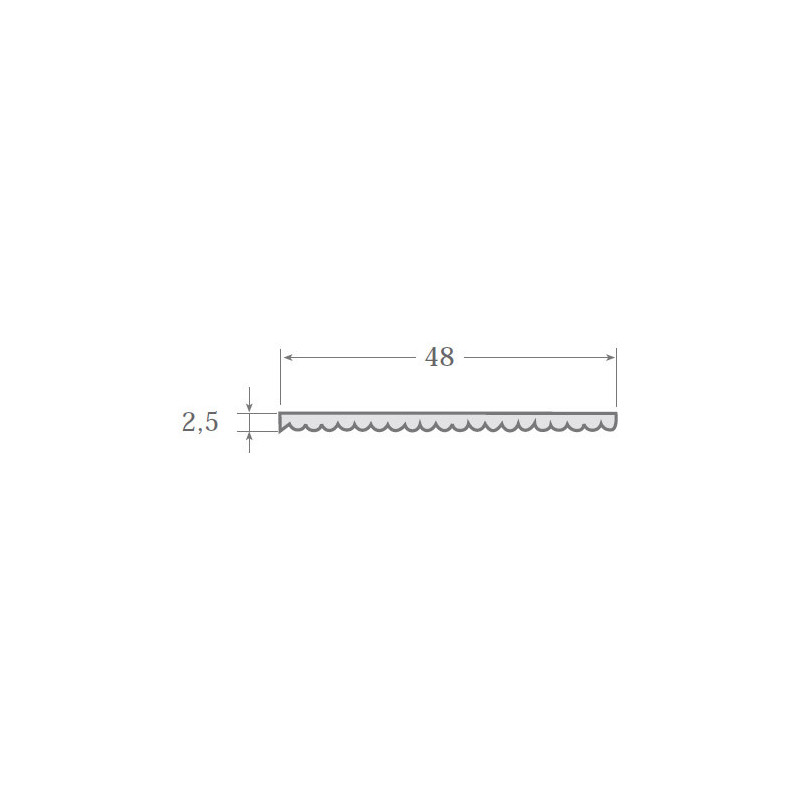 N.12 - Perfil PVC rígido de color negro