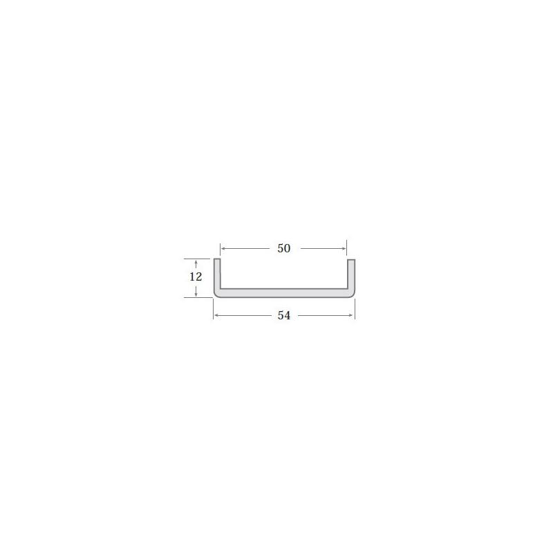 N.4 - Perfil PVC rígido de color negro