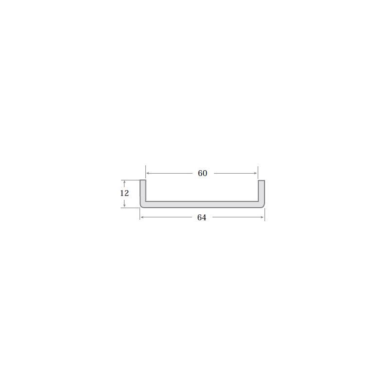 N.5 - Perfil PVC rígido de color negro