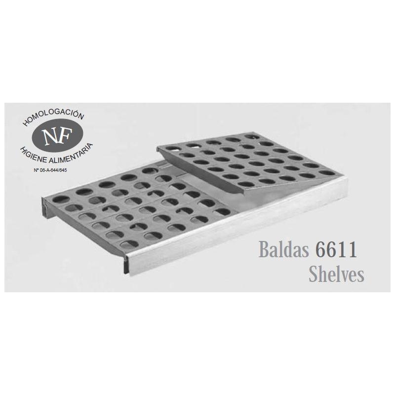 6611 - Parrilla completa FERMOSTOCK (balda polietileno + 2 largueros + 4 soportes)