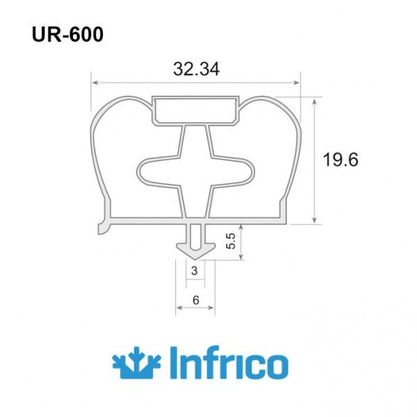 UR-600 - Burlete en PVC...