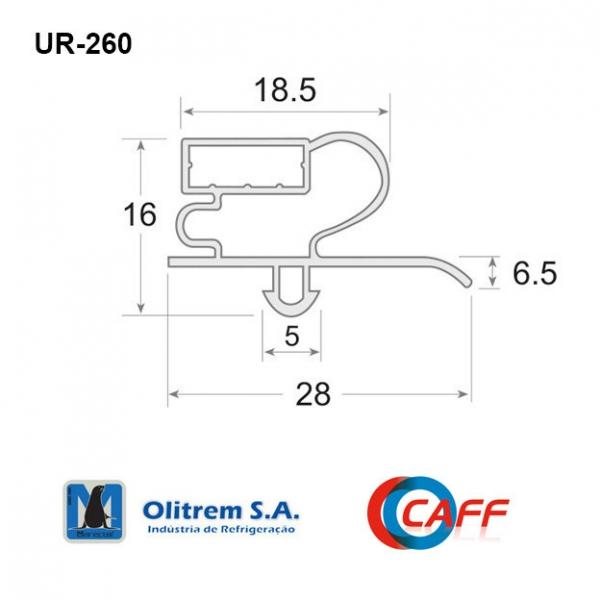 UR-260 - Burlete en PVC...