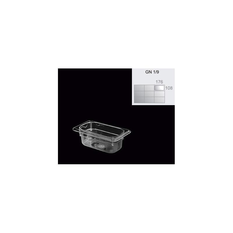 GNC-1/9 - Bandejas de policarbonato en medidas GASTRONORM de 176 x 108 mm