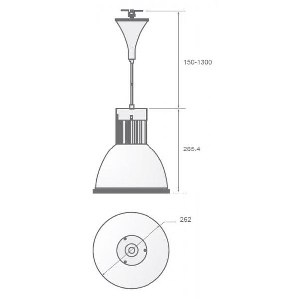LAMPARA LED C-ALLBP colgante 30W blanco puro