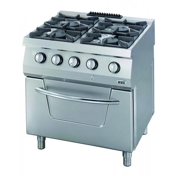 Cocina a gas con 4 fuegos...