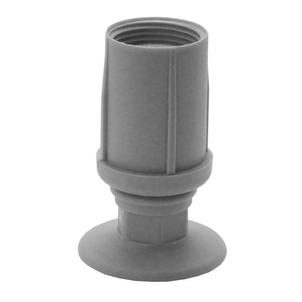 Pata redonda regulable para mobiliario HORECA en ABS color gris