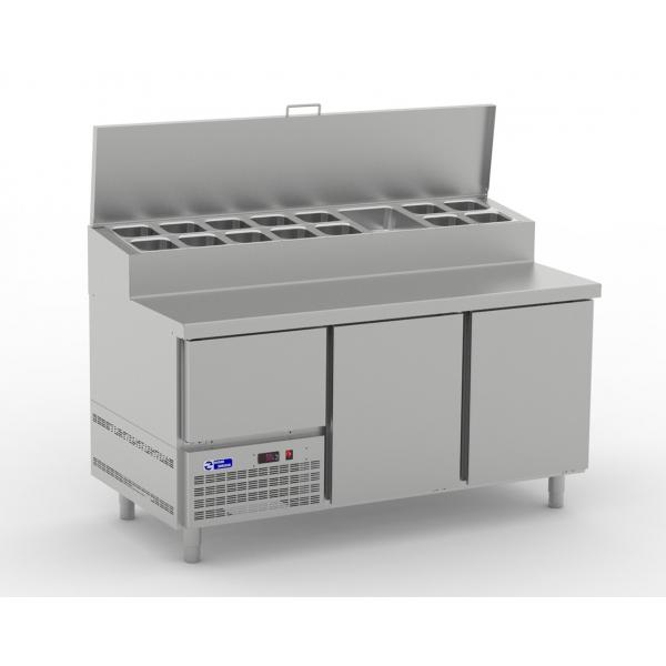 Mesa refrigerada para pizzas